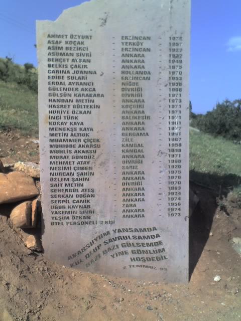 Sivas memorial names Banaz June 2007