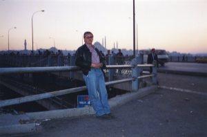 Galata bridge at sunset 1999