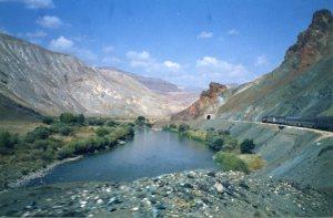 Doğu Ekspres near Divriği mid-1990s