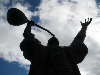Pir Sultan Abdal statue at Tunceli